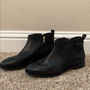 Women's Black UGG leather booties